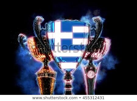 Trophée tasse pavillon Grèce illustration numérique Photo stock © Kirill_M