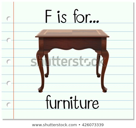 Flashcard letter F is for furniture Stock photo © bluering