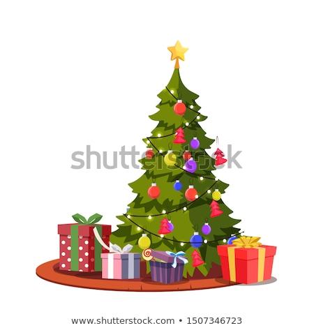 クリスマス · 緑の木 · ベクトル · デザイン - ストックフォト © zurijeta