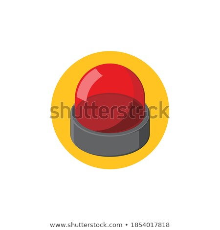 Red security icon isometry Stock photo © Oakozhan
