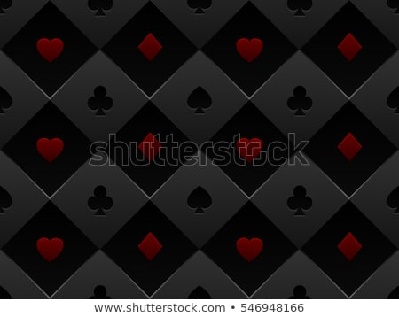 Minimalistic red poker background with texture composed from card symbols stock photo © liliwhite