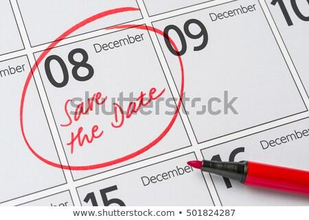 guardar · fecha · escrito · calendario · diciembre · 26 - foto stock © zerbor