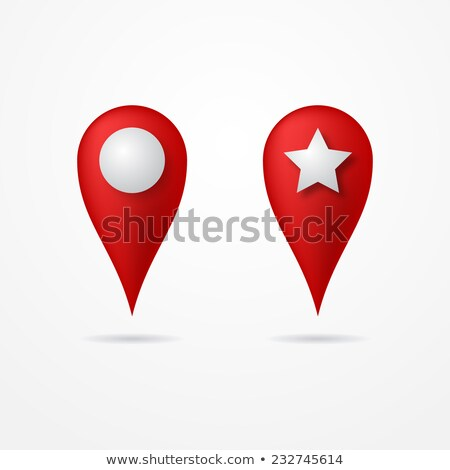 3d Map pointer with star icon. Map Markers. Vector illustration Stock photo © Said