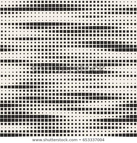 Wektora bezszwowy czarno białe kropkowany wzór streszczenie Zdjęcia stock © CreatorsClub