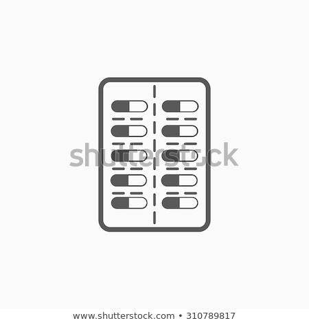 Contraceptive pill pack icon Stock photo © angelp