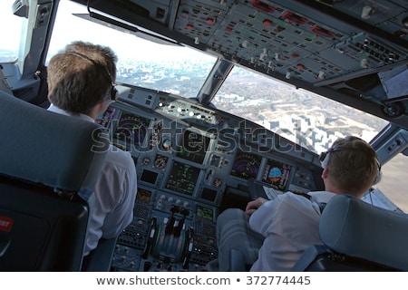 Légitársaság repülőgép repülőgép illusztráció munka háttér Stock fotó © bluering