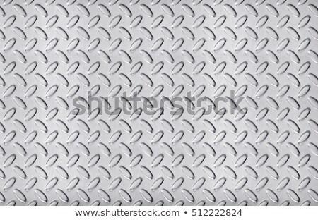 Aço inoxidável textura grande tamanho parede abstrato Foto stock © 7Crafts
