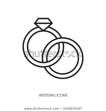 Ring with diamond, gems rings icon, flat design. Isolated on white background. Vector illustration,  Stock photo © lucia_fox