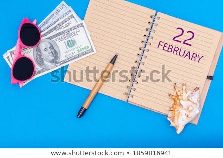 Mentés randevú írott naptár 22 üzlet Stock fotó © Zerbor