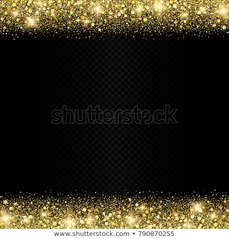 Stok fotoğraf: Gold Glitter On Transparent Background Eps 10