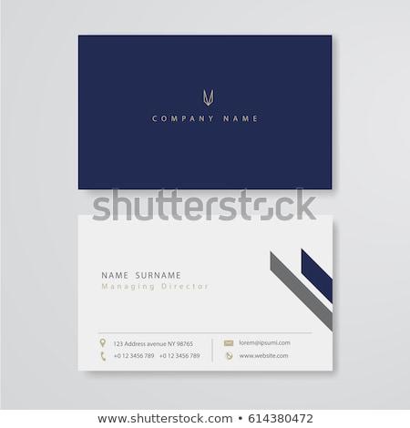 Luz blanco tarjeta de visita mínimo vector diseno Foto stock © SArts