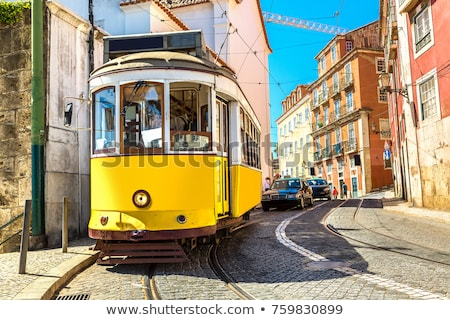リスボン 伝統的な アーキテクチャ ポルトガル 旧市街 日没 ストックフォト © joyr