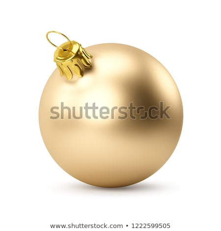 beautiful red background with golden christmas balls decoration  Stock photo © SArts