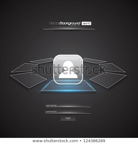 Biały świetle ui projektu login formularza Zdjęcia stock © SArts