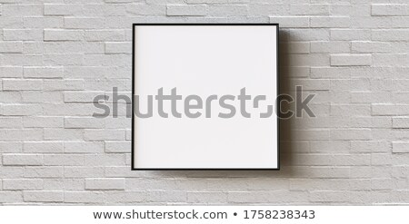 Blank square shaped painting or photograph mock up copy space Stock photo © stevanovicigor