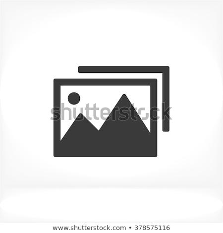 icon paper photo Stock photo © romvo