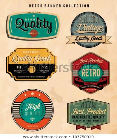 vintage labels 1 stock photo © darkves