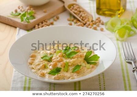 Krem köri gıda arka plan akşam yemeği yemek Stok fotoğraf © M-studio