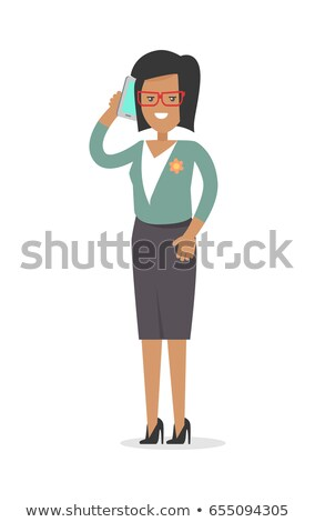 Office Worker. Rich Woman in Official Cloth Isolated Stock photo © robuart