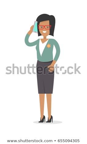 Irodai dolgozó gazdag nő hivatalos ruha izolált Stock fotó © robuart