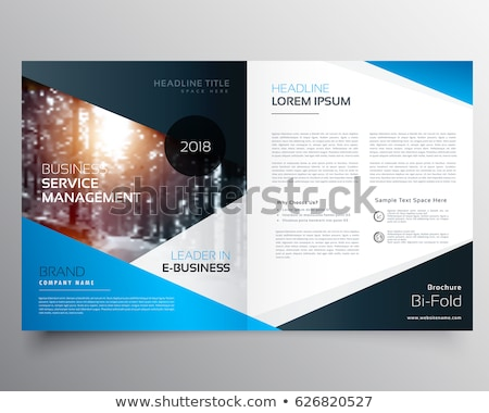 awesome magazine cover page design or bifold template brochure Stock photo © SArts