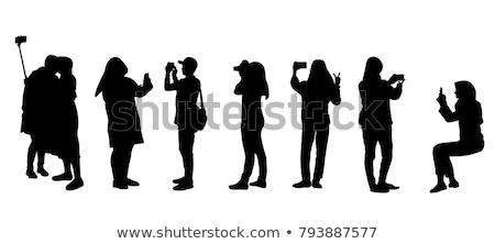 アラブ ムスリム カップル 男 女性 立って ストックフォト © NikoDzhi