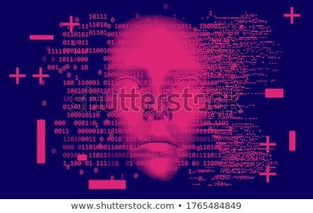 розовый двоичный компьютер Код аннотация вектора Сток-фото © Leo_Edition