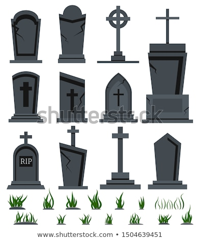 Cartoon Christian Tombstone With RIP Stock photo © benchart