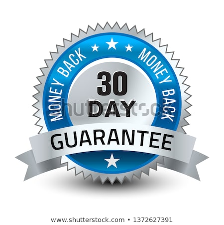 money back guarantee premium golden vector label design