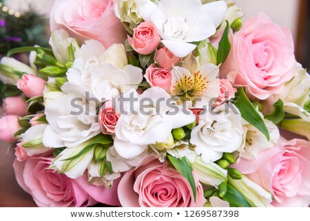white roses and freesias Stock photo © manera