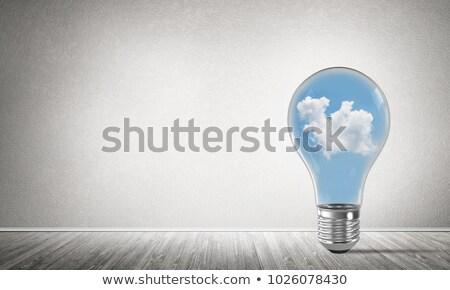 une · ampoule · rangée · design · fond · lampe - photo stock © make
