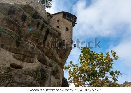 Wiszący klasztor widoku podróży architektury panorama Zdjęcia stock © Freesurf