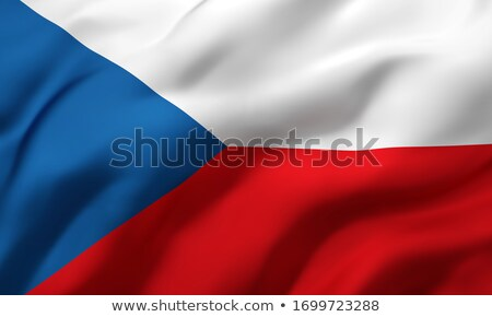 Czech Republic waving flag Stock photo © Amplion