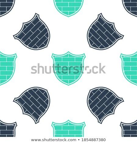 Segurança de dados branco parede de tijolos rabisco ícones em torno de Foto stock © tashatuvango