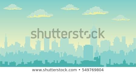 linha · do · horizonte · cidade · abstrato · cidade · paisagem · industrial · vetor - foto stock © popaukropa