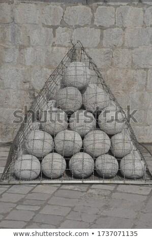 Stok fotoğraf: Piramit · antika · Metal · çit