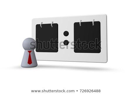 Scorebord spelen cijfer stropdas witte 3d illustration Stockfoto © drizzd