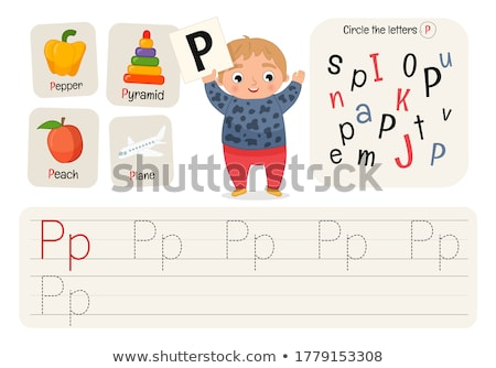 puzzle letters of the alphabet p Stock photo © Olena