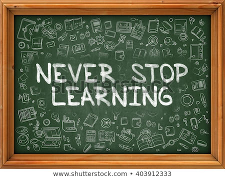 Never Give Up Concept. Doodle Icons on Chalkboard. Stock photo © tashatuvango