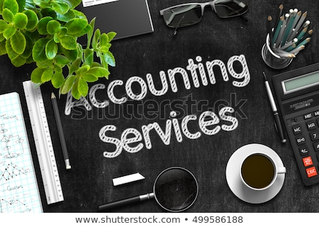 accounting services on black chalkboard 3d rendering stock photo © tashatuvango