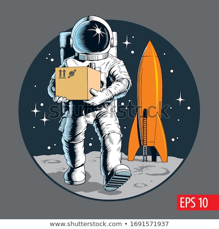 Astronauta espaço foguete retro Foto stock © studiostoks