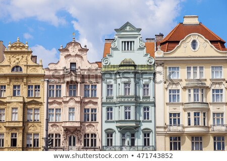 Colorful architecture of  Square of the Republic in Pilsen Stock photo © benkrut