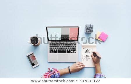 dizüstü · bilgisayar · ekran · popülerlik · büyüme · modern · işyeri - stok fotoğraf © tashatuvango