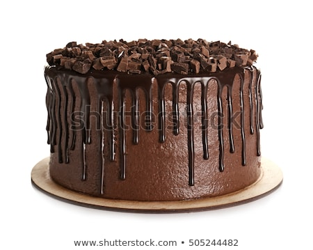 8731696 Tasted Chocolate Birthday Cake By AlphaBaby Stock Photo