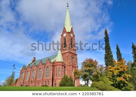 大聖堂 フィンランド 早い 冬 日没 雪 ストックフォト © Estea