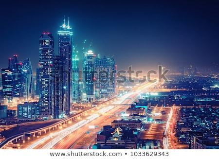 Nocturna de la ciudad vista fuegos artificiales casa ventana urbanas Foto stock © devon