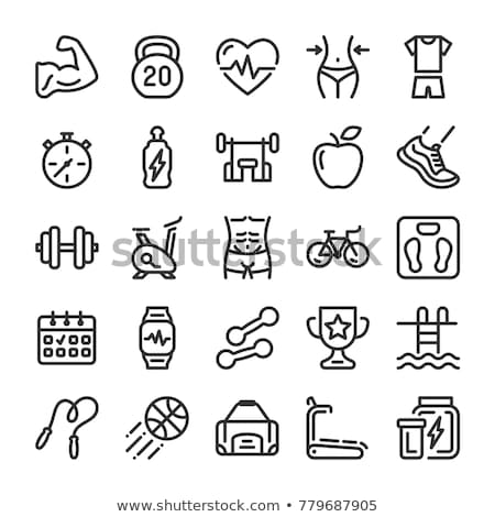 icons dumbbells of thin lines vector illustration stock photo © kup1984