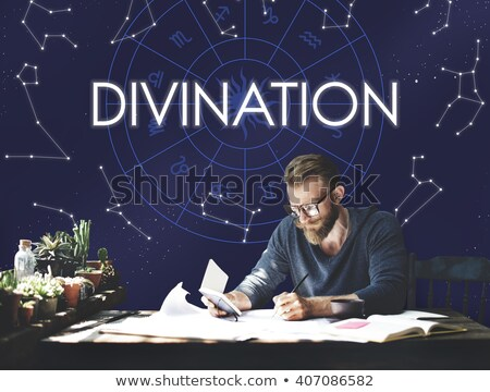 Fortune teller and man in office Stock photo © IS2