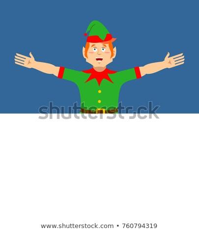 grillig · cartoon · christmas · kous · lege - stockfoto © popaukropa