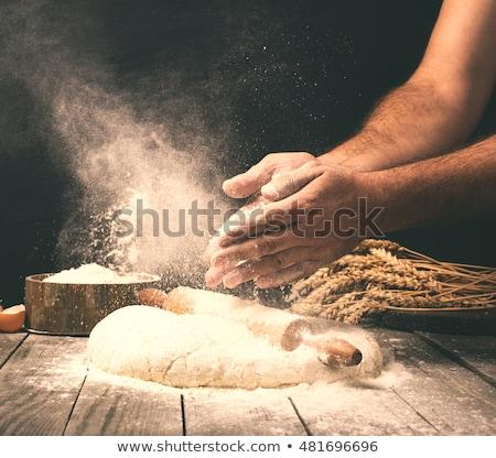 Szakács pék készít kenyér pékség étel Stock fotó © dolgachov